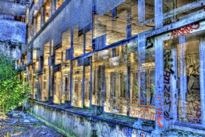 Sanatorium d'Aincourt: facade en superposition