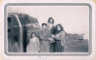 1948 - Louise, Chlorita Guidry Barousse, Audrey & Betty june Barousse