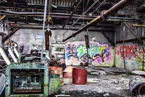 Normandie - Urbex - Filature - Tag en machinerie